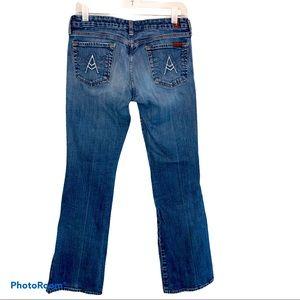 7FAM Blue A Pocket Bootcut Denim Jeans Size 30